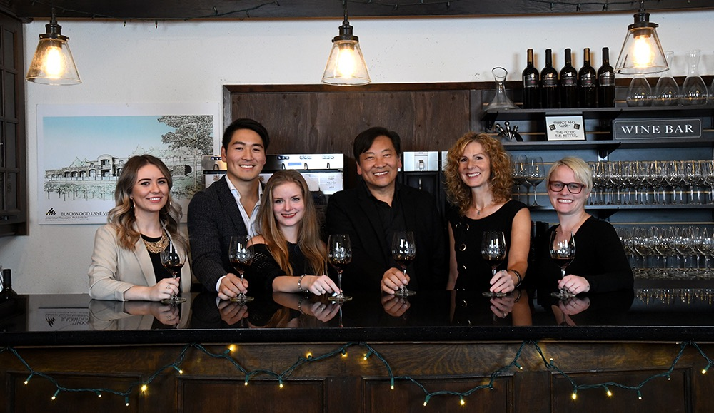 meet the Blackwood Lane Winery team for a wine tasting